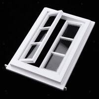 1/12 Dollhouse Mini Wooden Window Doll House DIY Decoration (White)