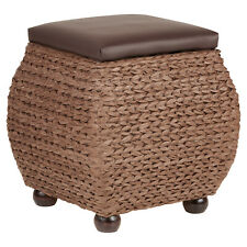 Hartleys Small Brown Storage Ottoman Footstool/Bench/Pouffe Toy Trunk Box