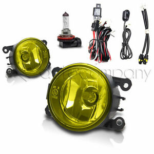For Subaru Fog Lights Front Bumper Lights w/Wiring Kit - Yellow