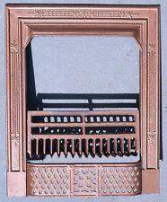 ANTIQUE CAST IRON FIREPLACE SURROUNDVINTAGE 1800s w/ ORIGINAL GRATE