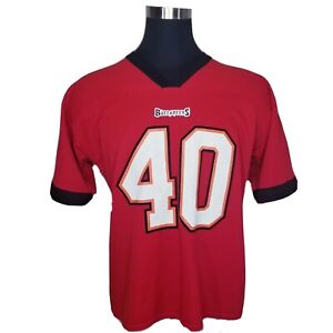 Tampa Bay Buccaneers Mike Alstott Red Jersey Adult Large Logo Athletic