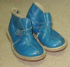 VINTAGE Cat-Tex Blue Leather Shoes  Child's BABY shoes