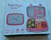 Bentgo Kids Lunch Box Polka Dot Pink White Grey Durable Leak Proof 5 Compartment