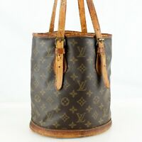 LOUIS VUITTON PETIT BUCKET PM Old Model Tote Bag Shoulder Bag Monogram Brown