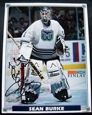 Hartford Whalers Hockey Team Photo  Sean Burke Autographed to Doris 11/16/95
