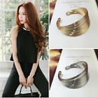 Fashion Women Gold Silver Hollow Open Wide Bangle Cuff Punk Jewellery Bracelet