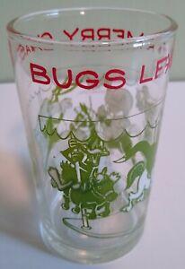 "4.25"" Looney Tunes Welchs Bugs Bunny Yosemite Sam Collectors Juice Glass 1974"