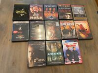 Lot of 13 DVD Movies Action Horror Con Air We Were Soldiers Saving Private Ryan
