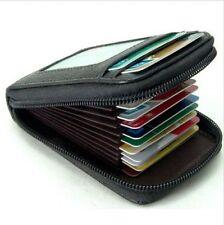 Fashion Mens Womens Mini Leather Wallet ID Credit Cards Holder Organizer Purse