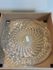 "New Mikasa Previa Centerpiece Bowl Australian Lead Crystal 12.25"" Entertaining"