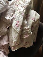 Rachael Ashwell Cherry Blossom King Size Bundle.Quilt,Bedskirt/showercur/flatshe