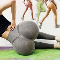 Women Scrunch Butt Lifting Workout Leggings Seamless High Waisted GYM Yoga Pants