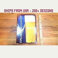 Bud Light Sign Bud Light Beer Sign Bud Light Garage Tin Sign Metal Gifts Gift