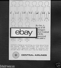 CENTRAL AIRLINES 1966 9 OUT OF 10 PASSENGERS WILL BE ON A CV600 DART PROPJET AD