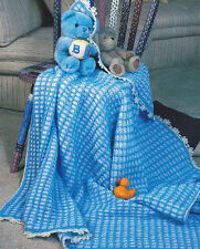 Crochet Pattern ~ Baby Checks Afghan ~ Instructions