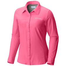 Columbia Rose Pink MEADOWGATE Long Sleeve Shirt Omnishade Size 1x New/ 30spf