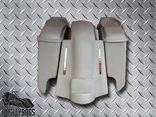 "Harley Davidson 5"" Stretched 6x9 Saddlebags & LED Brake Light Fender Bagger Kit"