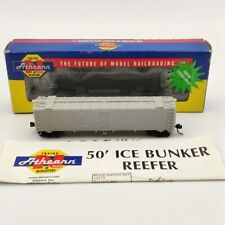 Athearn N Scale 11560 Undecorated 50 Ice Bunker Reefer Used