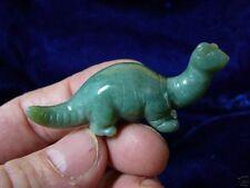 (Y-Din-Br-555) Brontosaurus green dinosaur carving gem Figurine stone Gemstone
