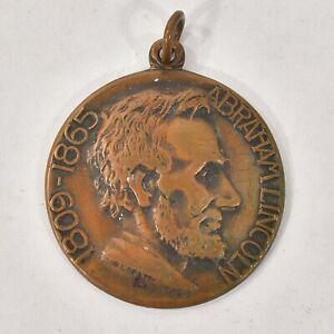 1809-1865 BRONZE Medal ABRAHAM LINCOLN Coin FOB ILLINOIS WATCH Co. Collectors Pc