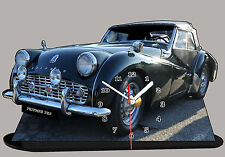 MODEL CARS, TRIUMPH TR3-04, car passenger, 11,8x 7,8 inches  with Clock