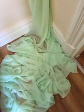 "27.5 MTR QUALITY MINT GREEN COLOUR CHIFFON FABRIC...45"" WIDE £81"