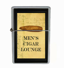Men's Cigar Lounge Rs1 Flip Top Oil Lighter Wind Resistant With Case