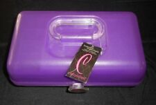 CABOODLES MAKEUP / NAIL PURPLE COSMETIC ORGANIZER CARRYING CASE W/ MIRROR W/ TAG