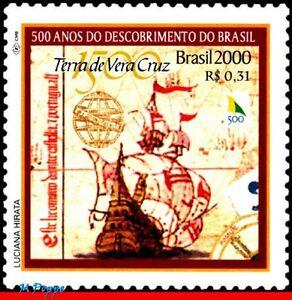 2739 BRAZIL 2000 DISCOVERY OF BRAZIL, SHIPS & BOATS, HISTORY MI# 3006 C-2254 MNH