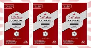 3 Old Spice Clinical 72-Hour Sweat Defense Deodorant Men Stronger Swagger 1.7 OZ