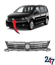 NEW VOLKSWAGEN TOURAN 2010 - 2015 FRONT CENTER GRILL BLACK WITH CHROME MOLDING