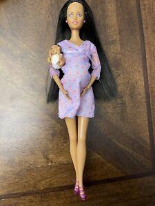 barbie happy family pregnant midge baby Aa Doll