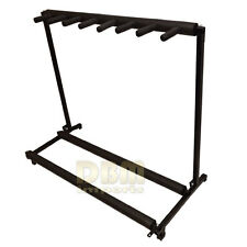 Folding Guitar Display Rack Stand Holder Holds 7 Slots Bass Acoustic Storage