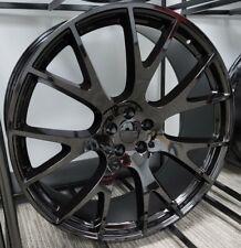 24 Inch Gloss Black Replica 218 Hellcat Wheels Rims 5x115 5x45 Dg05 Dodge