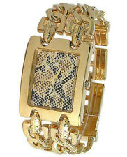 NWT Guess Women's U12554L1 Gold Stainless-Steel Quartz Watch with Gold Dial