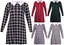 Plus Size Checked Shirt Dresses for Women
