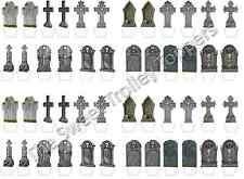 Stand Up Gravestone Tombstone Edible Rice Wafer Paper Halloween Cupcake Toppers