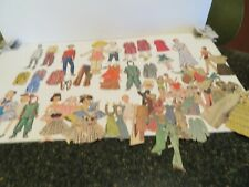 LOT OF 63  PIECES  Vintage Paper Dolls  Clothing Accessories  and figures
