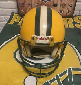 GREEN BAY PACKERS 1961-1979  RIDDELL GAME WORN AUTHENTIC FOOTBALL HELMET NFL!