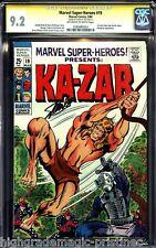 MARVEL SUPER HEROES #19 CGC 9.2 OWW SS STAN LEE 1ST SOLO KA-ZAR CGC #1283485024