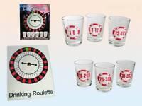 Trinkspiel Drinking Roulette inkl 6 Shooter Gläsern Partyspiel Saufspiel NEU