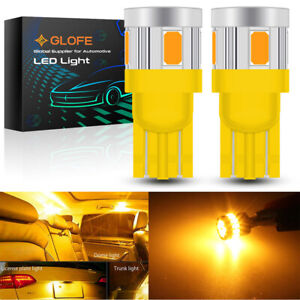 GLOFE Amber Yellow 168 194 921 License Side Marker Light LED Bulb Bright Upgrade
