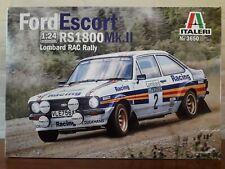 Italeri 1:24 No 3650 Ford Escort RS1800 Mk.II Lombard RAC Rally Plastic Modelkit