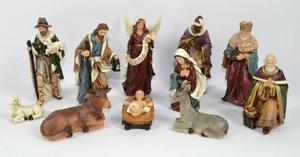 Natività Resina 15 cm completa 11 pezzi,articolo 57054, marca Due Esse Christmas