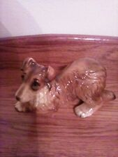 "Vintage Japan Dog Figurine, Playful Collie, 6 1/2"" Long, Very Good Condition"