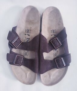 NEW Birkenstock Betula Mens Size 12 Brown 2 Strap Slides Sandals GERMANY