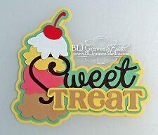CraftEcafe Premade Paper Piece Scrapbook Title Ice Cream Summer BLJgraves 40