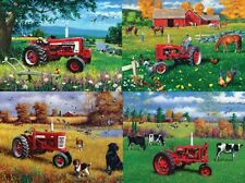 Jigsaw puzzle Multipack 4 assorted scenes Farmall Tractor NEW