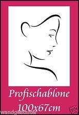 Schablone, Wandschablone, Wandschablonen, Stencils, Modernart - Frauengesicht 4