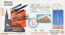 "AR-2L FDC KOUROU ""Arrival of the Rocket Stages of ARIANE 1 from Kourou"" 1979"